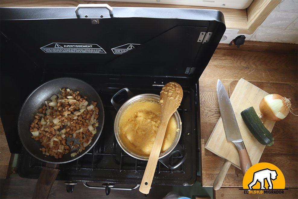 Cocina con horno para furgoneta camper