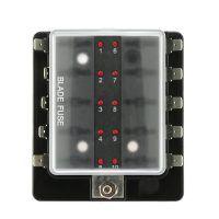 Caja 10 Portafusibles con indicador Led Camper Kkmoon